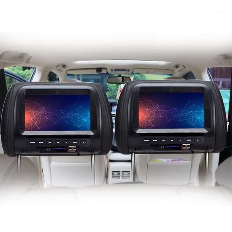 Monitores de pantalla de pantalla LED TFT de 7 pulgadas Monitoree Reposacabezas MP5 Reposacabezas Soporte AV / USB / MULTI MEDIA / FM / altavoz / Coche DVD Video 720p1