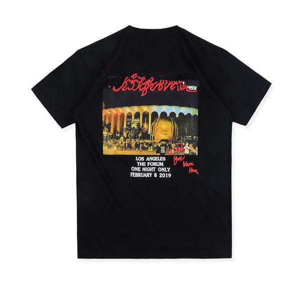 T-shirt da uomo Astroworld La Tour T Shirt T-shirt Mens Tees per manica corta estiva in 3 colori