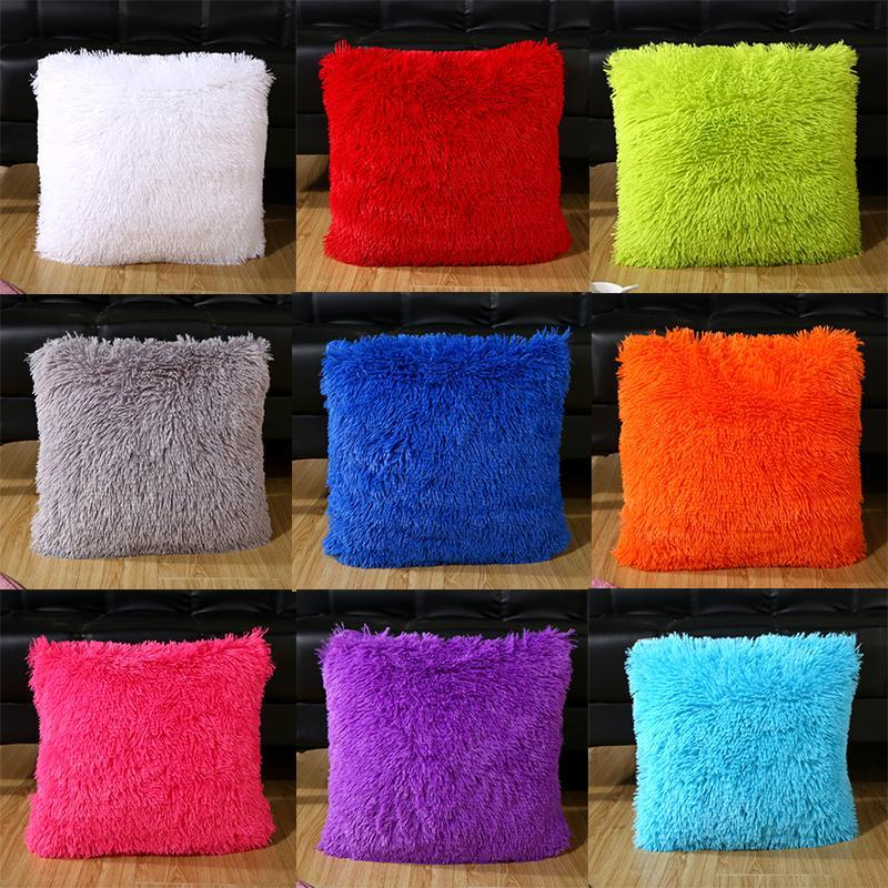 43 * 43 см плюшевые подушки с плюшевыми подушками для дома. Домашние принадлежности Мягкая удобная подушка для подушки сплошной талии.
