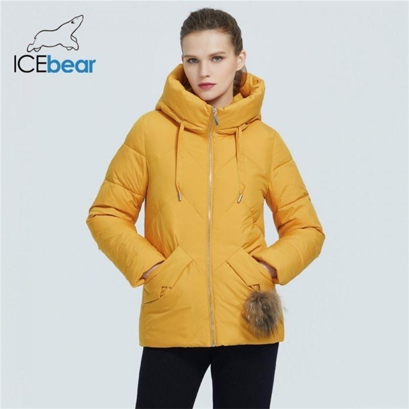 Buzbear Kış Rahat Moda kadın Ceket Yüksek Kaliteli Slim-Fit Kapüşonlu Kadın Ceket Marka Parka GWD20138i 201212