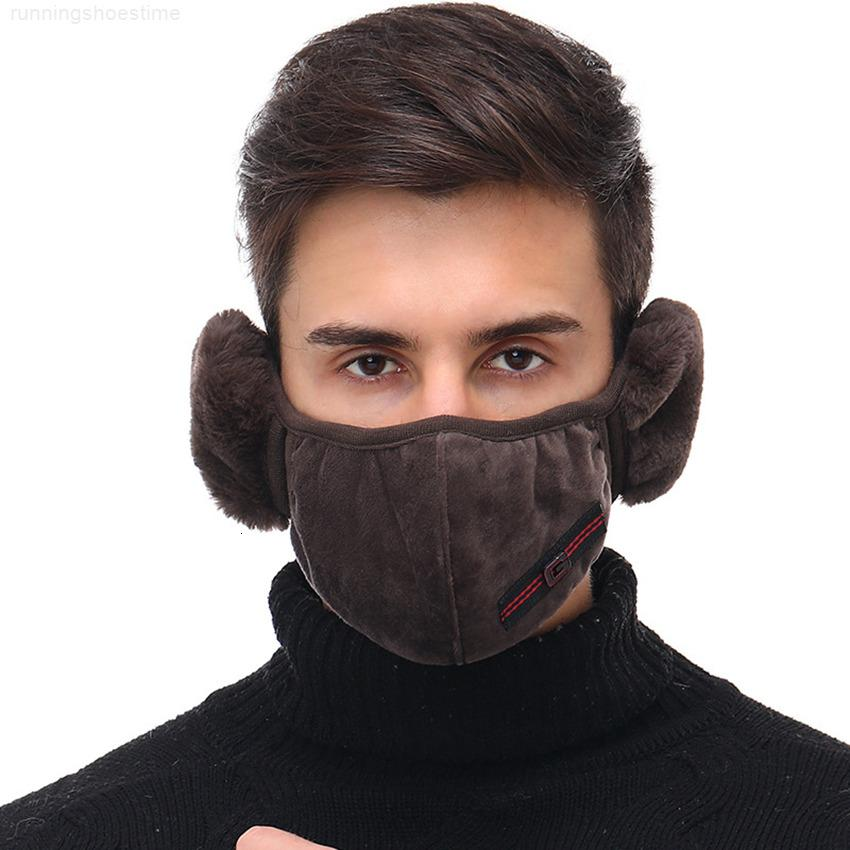 Masks Unisex Cotton Earmuffs 2 Mouth Muffle 1 in Winter Fashion Men Women Outdoor Warm Windproof Half Mask Cycling Masks 300pcs GGA3784