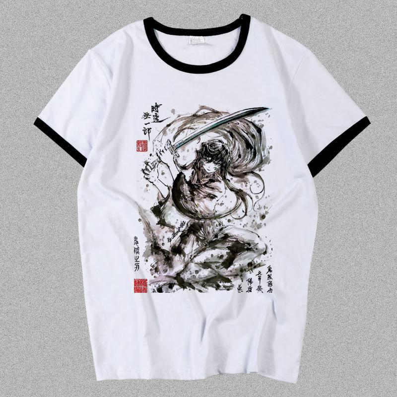 New Demon Slayer: Kimetsu No Yaiba Uzui Tengen Tokitou Muichirou Camiseta Cosplay Kanroji Mitsuri T Shirt Moda Hombres Mujeres Tees X1227