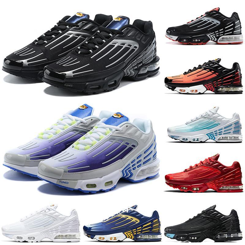 Nike Air Max Plus 3 Bayan Erkek Koşu AyakkabıAirmaksimumAirmax TN 3 Derin Royal Black Tuned 3 Eğitmen Sneakers ile