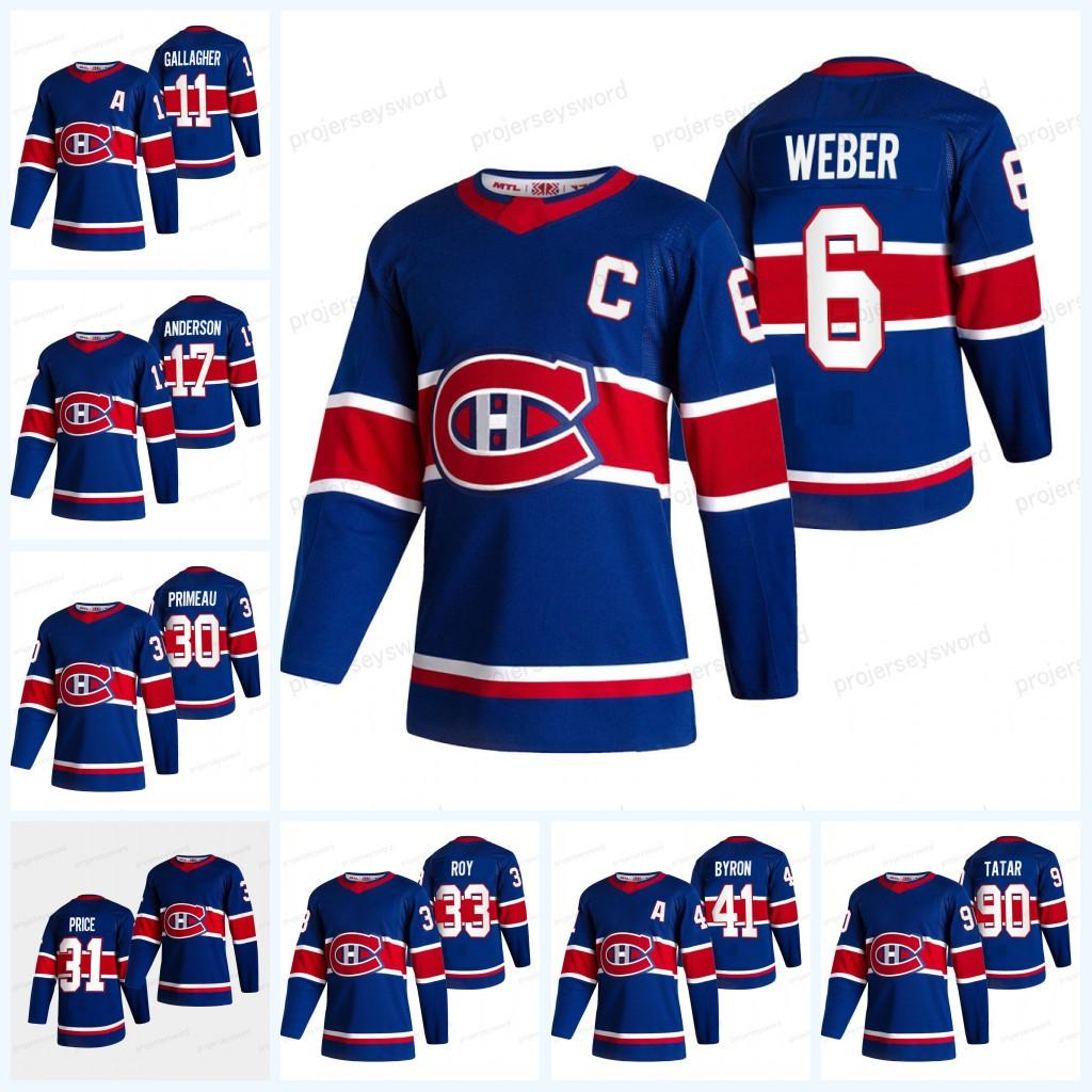 Montreal canadiens 2021 reverter jersey jersey jeff petry tomas tatar tyler toffoli joel edmundson carey preço shea weber brendan gallagher
