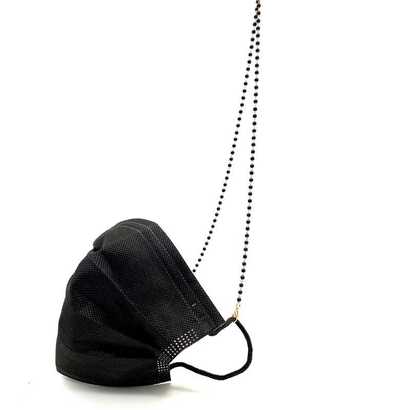 Lmask الحبل الخرز قناع الوجه حامل سلسلة قلادة الوزن ضوء مصمم العصرية الأزياء الوجه درع حزام التجنيب للنساء أطفال JK2101KD