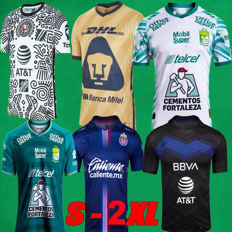 Liga MX 21 22 Club America Soccer Jerseys Leon Dritter 2021 2022 Mexiko Léon Unam Männer Kinder Chivas 3rd Football Hemden
