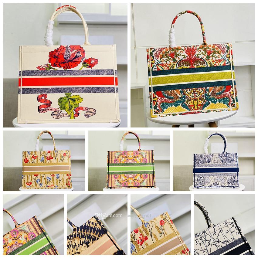 5A 2021 Top Quality Luxurys Mulheres Classic Livro Colorido Totes Saco Designers Saco de Bolsa de Mulheres Grandes Capacidade de Viagens Canvas Sacos de Compras
