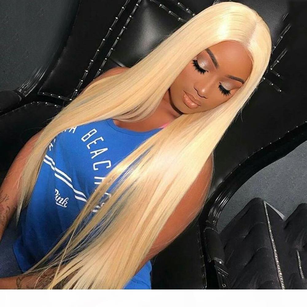 Fantasy Beauty Blondee 360 Кружева Фронтальный парик Длинные Прямые 360 Кружева Фронтальные Фронтальные Парики Человеческих Волос Для Женщин Бразильский Реми Прическа Парик Парик