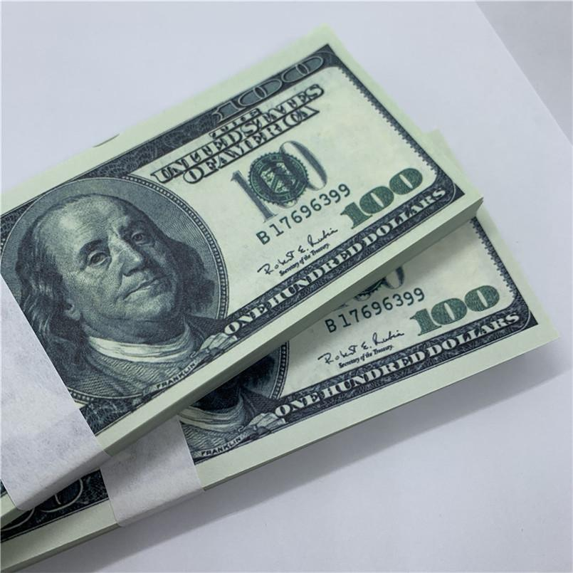 Bar U.S.Currency Billetes de billetes Juguete WEJFL Dollar Bank Copy O12 Performance Fake 100 Disparo Niños Money Props Forjado Old PVPLT