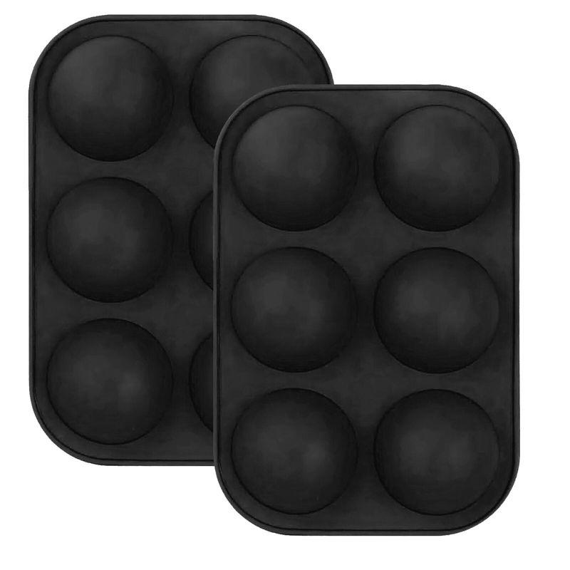 Moule à cuisson en silicone de 6 trous pour cuisson de cuisson 3D Cuisson de cuisson au chocolat Sphere Sphere Cupcake Cuisson DIY Muffin Cuisine Outil NWF3472