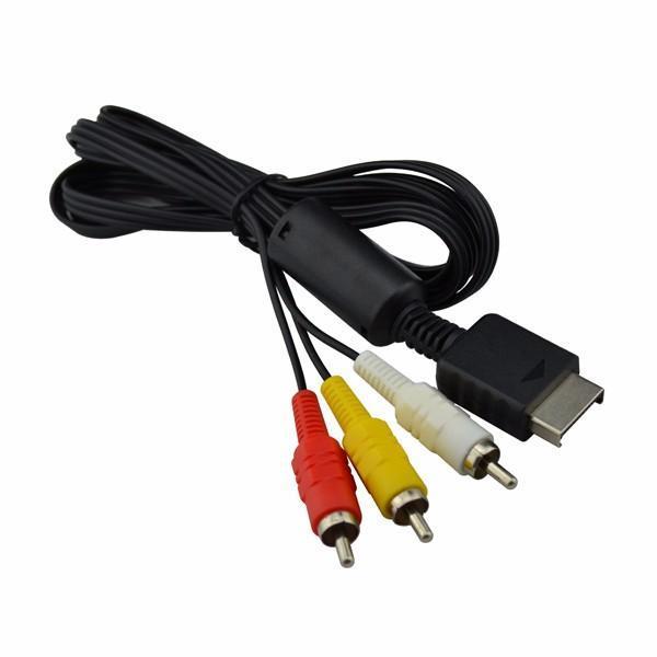 2020 كابل الصوت AV الصوت AV إلى RCA لبلاي ستيشن ل PS3 لسوني إبرة كاملة