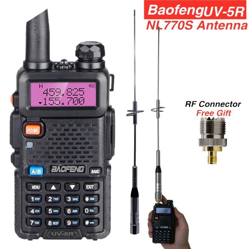 무전기 Talkie Baofeng UV-5R Talkie + NL770S 안테나 모바일 자동차 라디오 사냥 스테이션 최대 150W UV5R UHF VHF 트랜시버 CB 햄 라디오