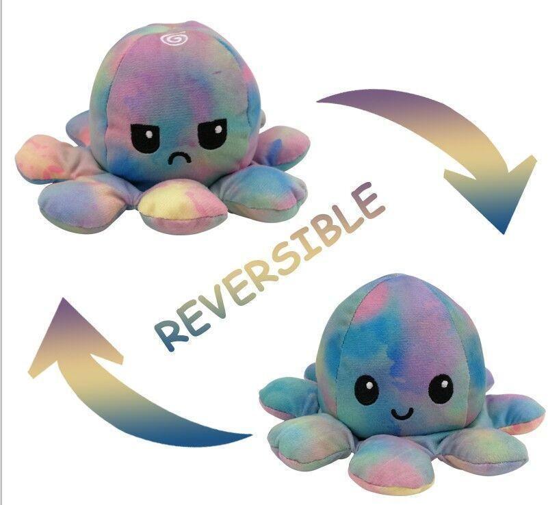 Muñeca de octopos de octopio lindo Expresión de doble cara Ped Octopus Doll Toy Pelush Toy 10cm 23 Color Niños WMTSVA FiveGarden