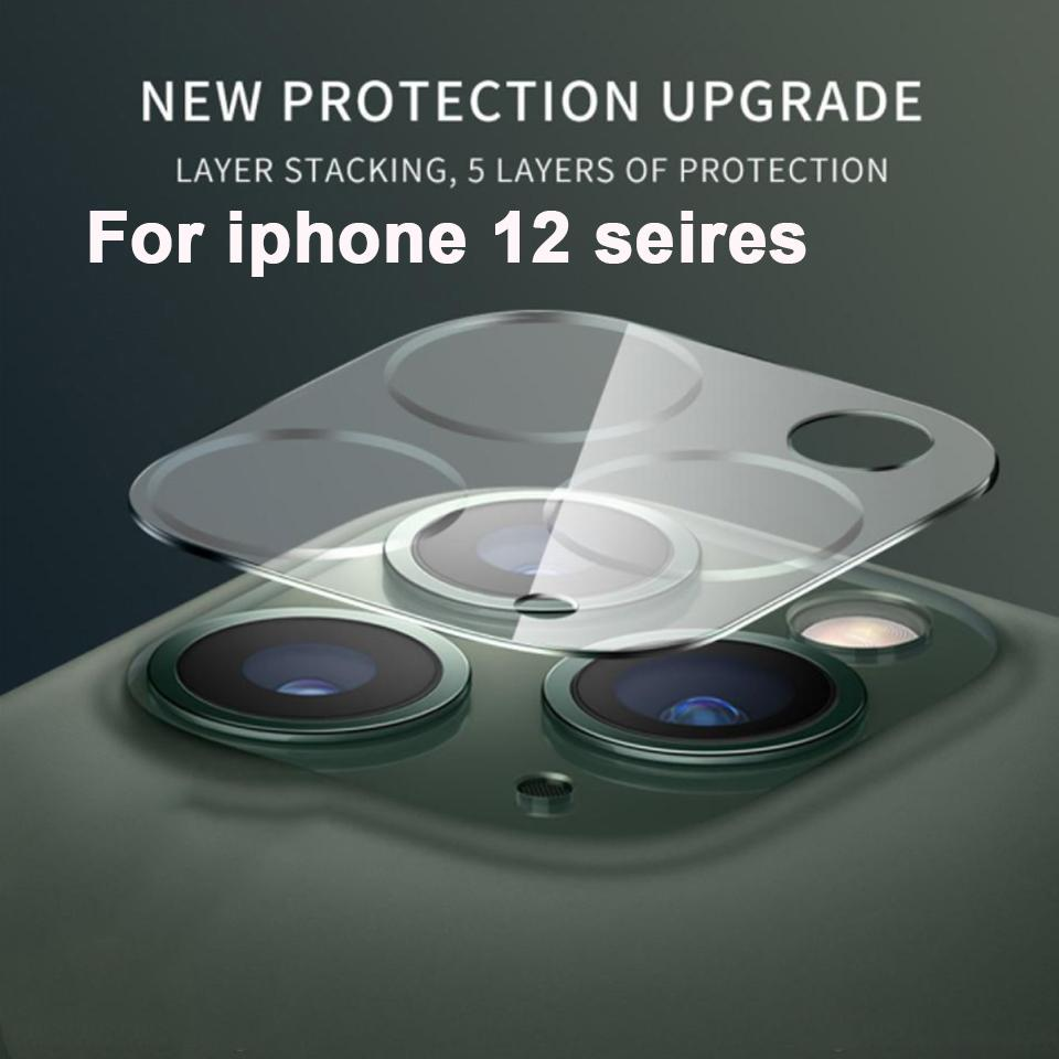 حامي الشاشة عدسة الهاتف لفون 12 ميني برو ماكس حالة الخلفية 3D شفافة مقاومة للخدش كاميرا الظهر الزجاج المقسى غطاء فيلم