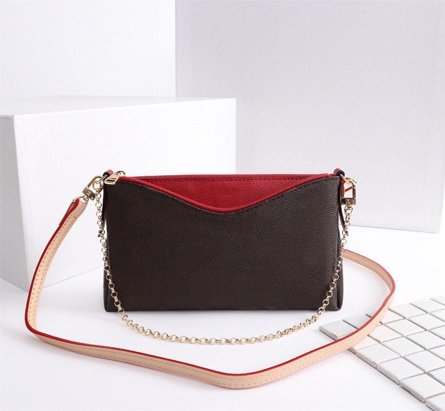 Bolsa bolsa de cuero dama caliente nueva cartera Pallas M41638 Lady Monograms Bolso Cadena de Moda Mensajero Venta de Mensajeros Hombro Embragues Bovrv