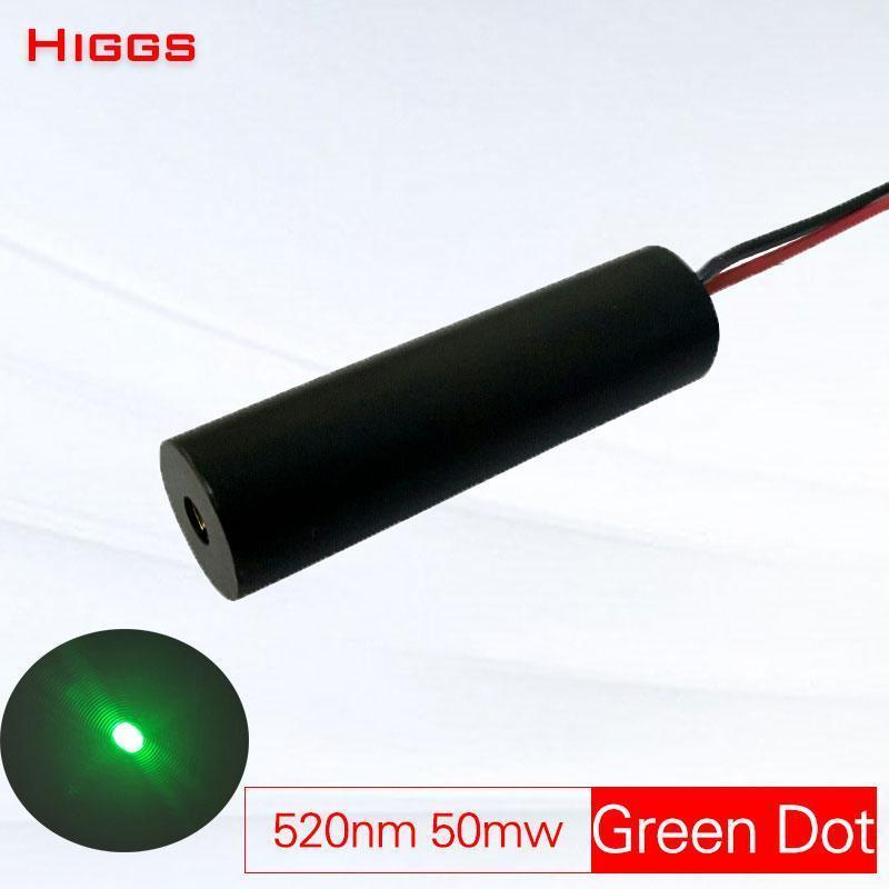 Высокая устойчивость 520 нм 50 МВт Зеленый точечный лазерный модуль Ночной охотничьи Охотничьи Лазерная головка Промышленный сорт Оптический сигнал источника1