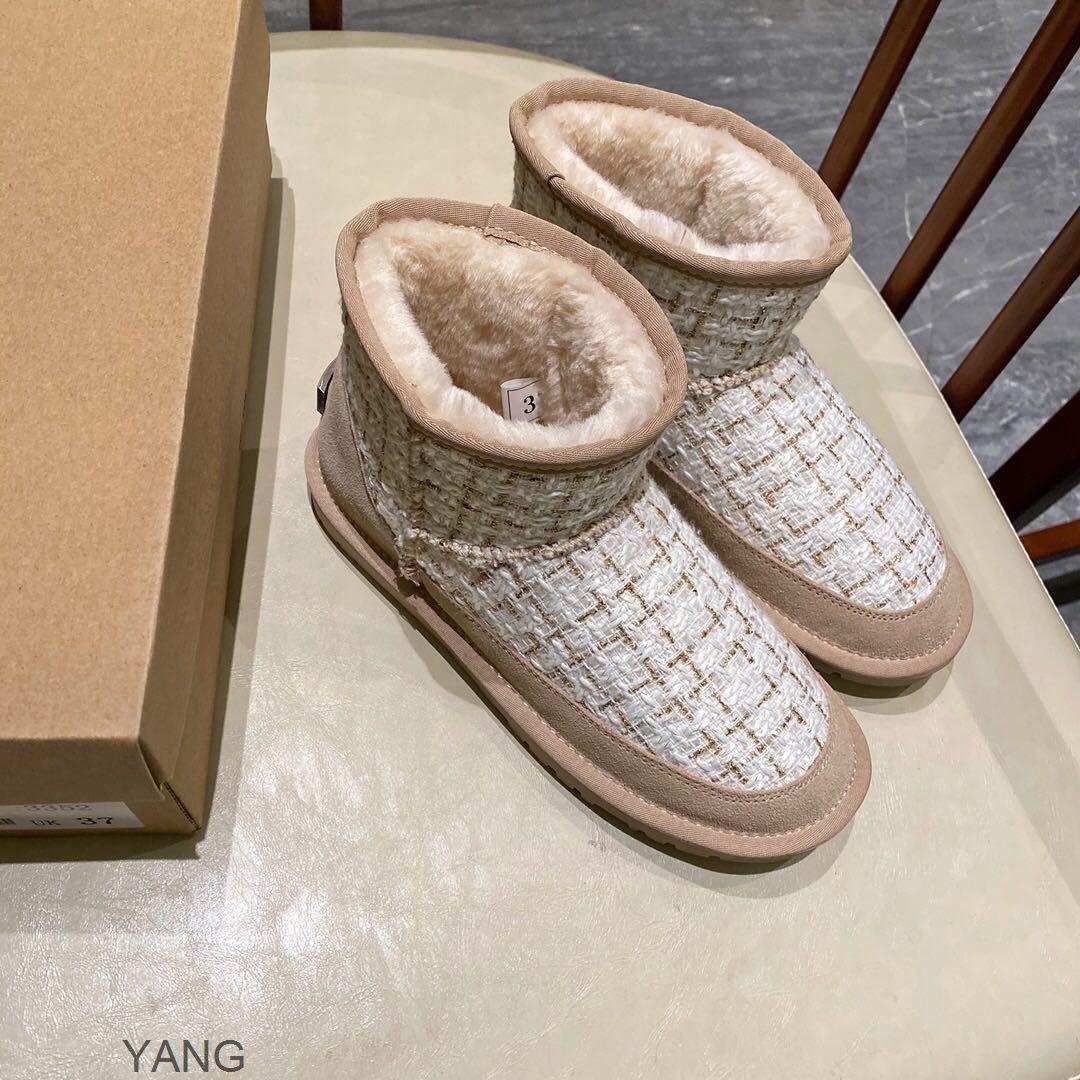 Autunno e inverno moda nuova piccola fragranza tre stivali da neve a colori per le donne