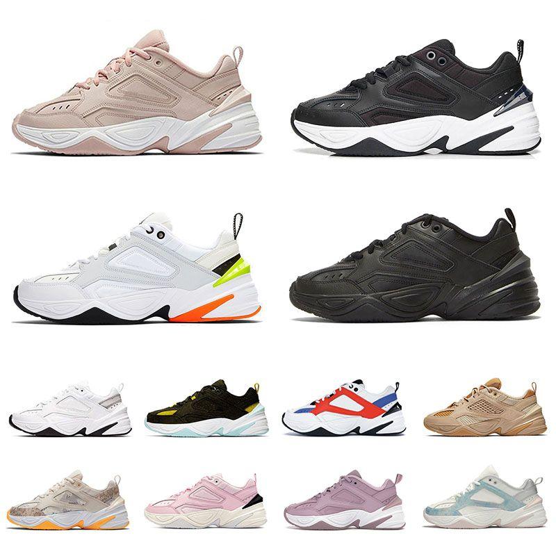 2021 Nike M2K Tekno off white chunky الاحذية رجل مكتنزة المدربين الأبيض النقي البلاتين جو رمادي أسود برتقالي البرقوق الطباشير أزياء الرجال النساء أحذية رياضية