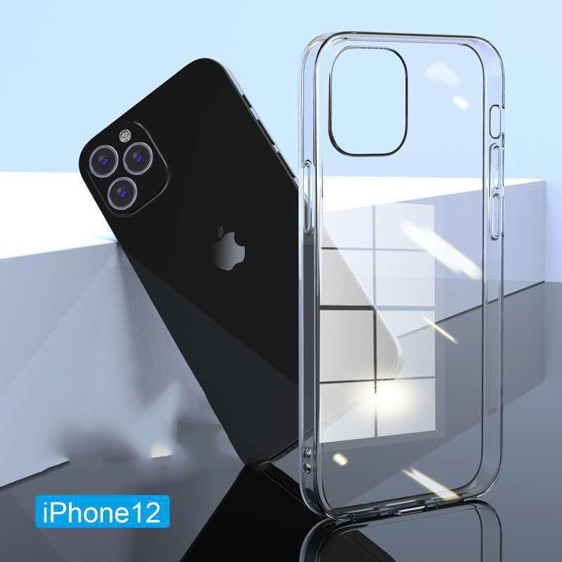 İPhone12 için cep telefonu kılıfı şeffaf tpu yumuşak kabuk apple 12pro anti-damla kabuk iphone11 cep telefonu kılıfı toptan cep telefonu kılıfları