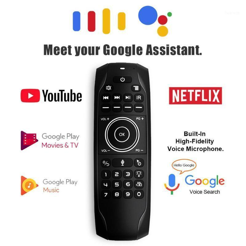 G7V Pro English Russian Keyboard Gyro 2.4G Wireless Air Mouse Voice Remote with Mic G7 V Pro for H96 MAX Android TV BOX VS MX31