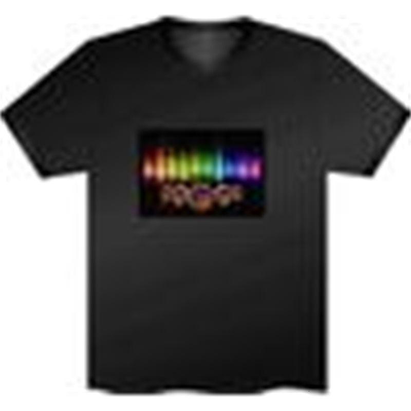 120 unids Moda, Ecualizador de la fiesta de música LED camiseta, El camiseta El sonido activado Parpadeando T Shirt Encendido y abajo, envío gratis
