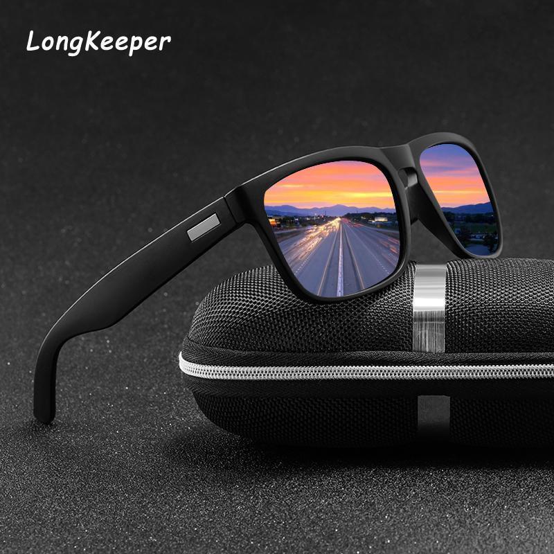 Marka Erkekler Shades Polarize Güneş Erkek Tasarım Erkek Vintage Gafas Güneş Kare Gözlük Retro Oculos Gözlük Sürüş UV400 Tprud