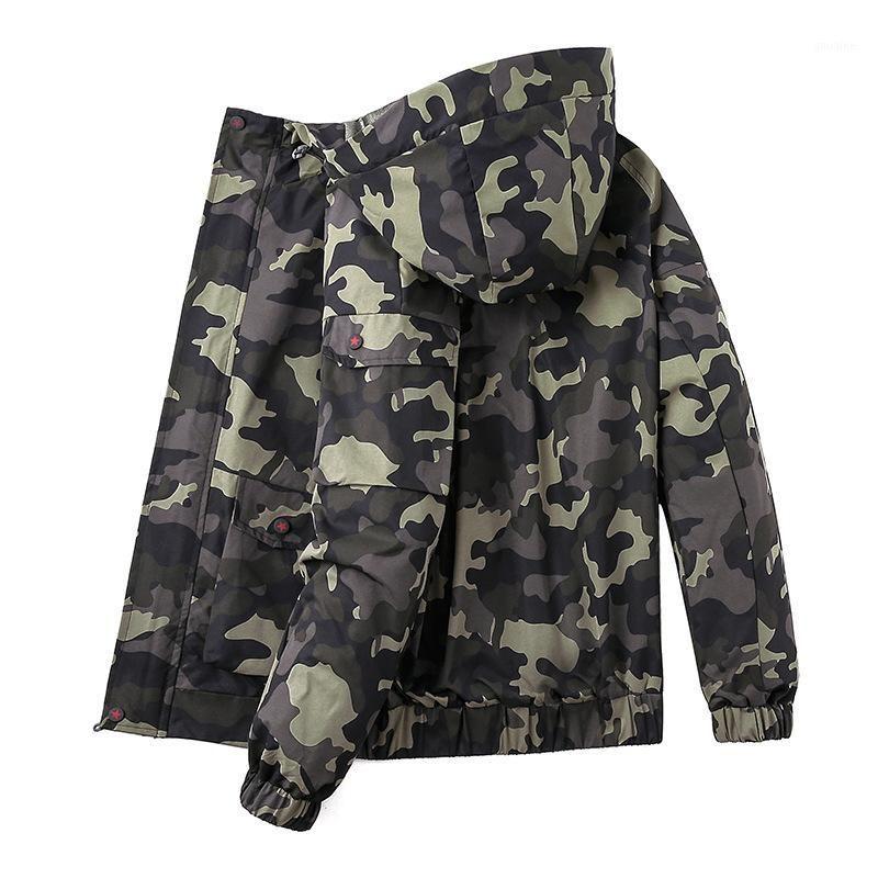 Новые мужчины плюс размер 6xL 7xL 8XL камуфляж мужской куртку с капюшоном бомбардировщики жгуты с капюшоном