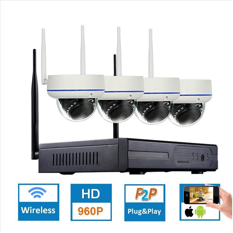 1.3MP Plug and Play Wireless NVR Kit P2P 960P HD Outdoor IR Night Vision Security Câmera IP WIFI Sistema CCTV
