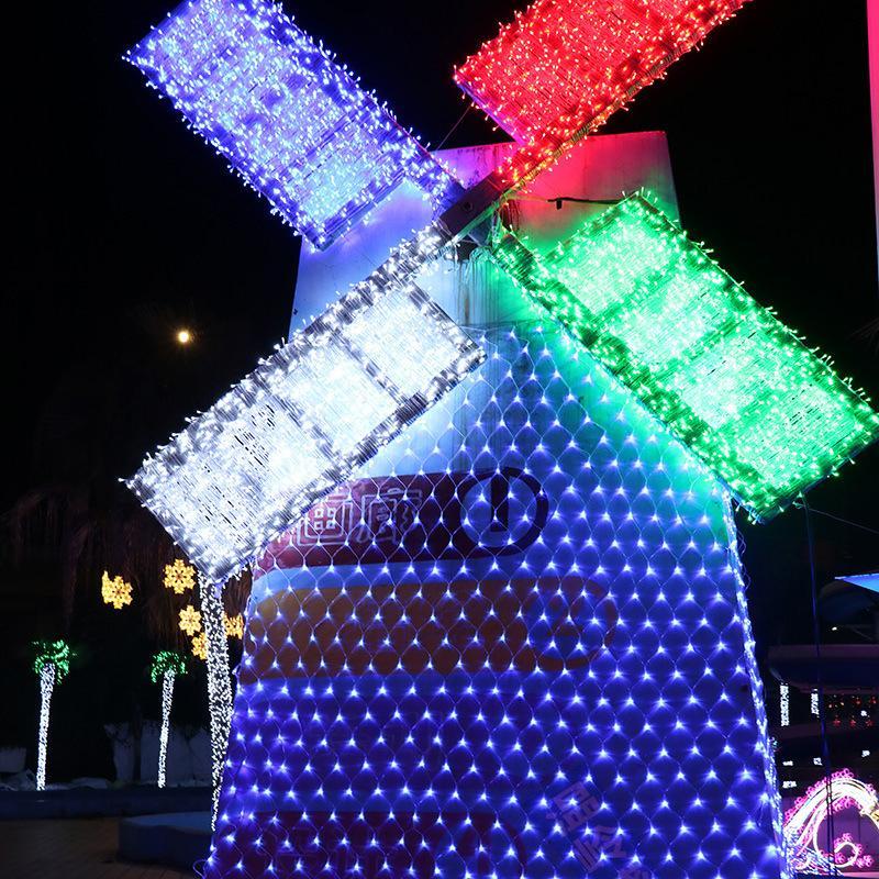 أدى أضواء عيد الميلاد في الهواء الطلق ماء الحمم مصباح حفل زفاف الاحتفال النيون قطاع فلاش الزخرفية فانوس صافي الساخن بيع 15ZN L2
