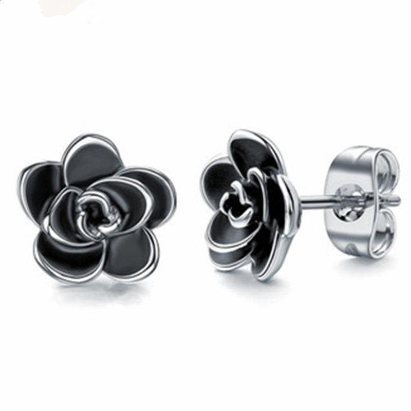 Nuovi semplici orecchini retrò squisita tridimensita tridimensionale olio gocciolante oro orecchini donna orecchio gioielli tendenza partito