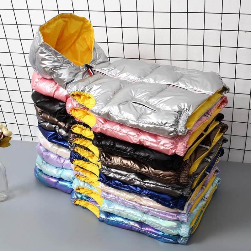 La nueva manera brillante Niño Chaleco Niños ropa de invierno abrigos ropa de los niños algodón caliente bebés de los muchachos Chaleco para 90-150cm 201110