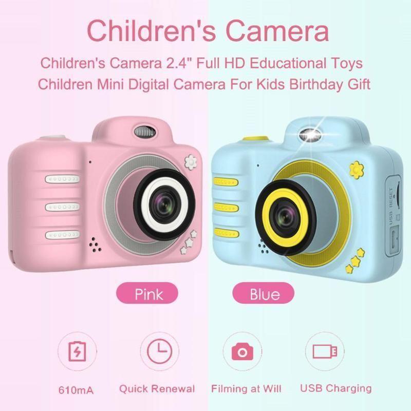 8МП Детская мини-камера 2.4 '' HD 1080P Детская образовательная игрушечная камера для рожденских подарков на день рождения Проекция видео Digital1