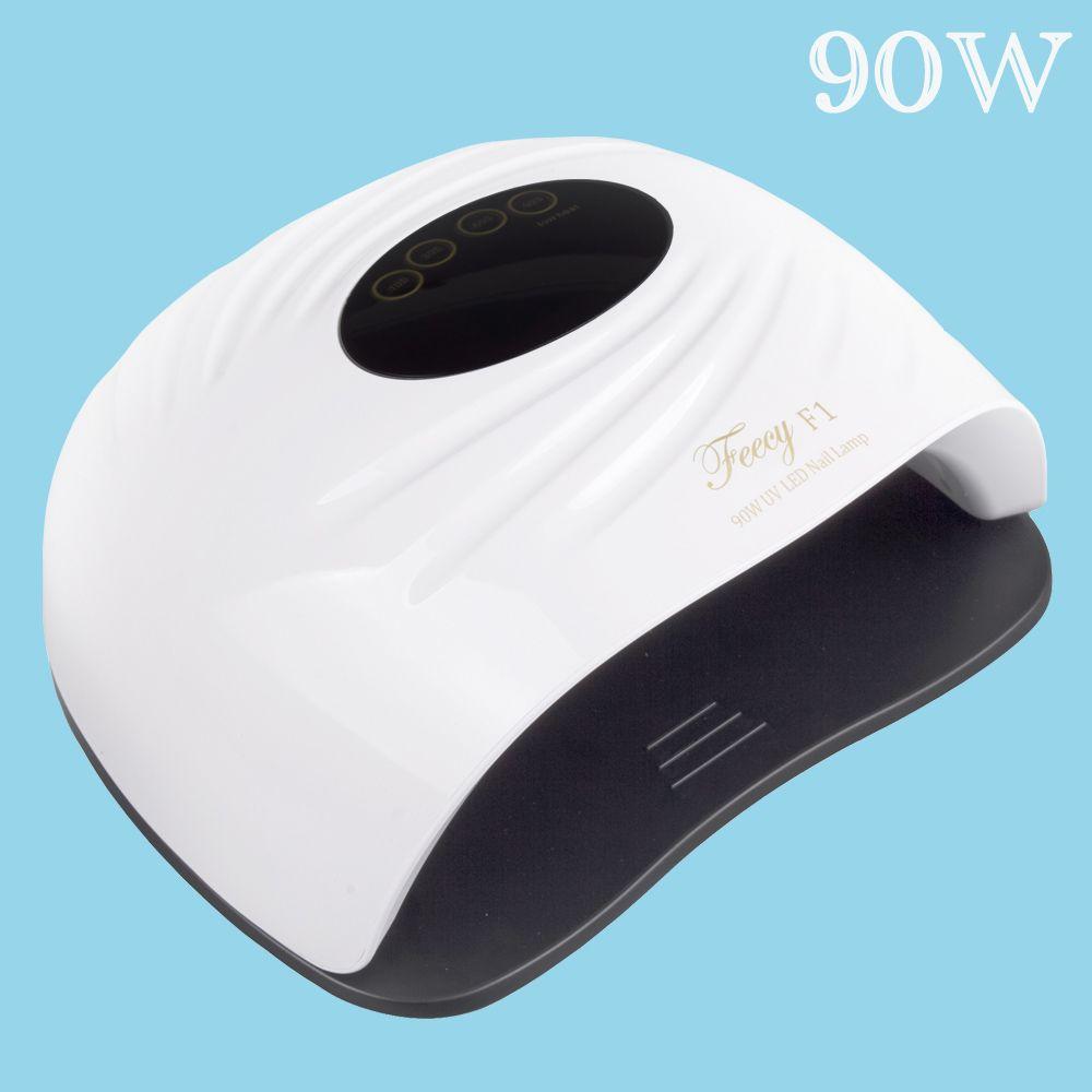 Lampe UV 90W Sèche-linge à ongles LED Lampe à ongles pour manucure 45PCS Séchage de la machine à séchage de glace pour gel ongles Varhish Lampe UV Tool UV