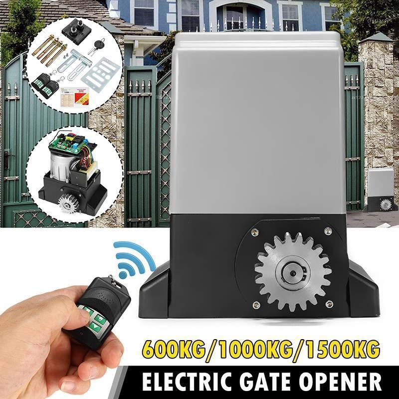 Controle de acesso a impressão digital 1500kg porta deslizante automática porta aberta motor 1000kg com 2 set switch equipamento elétrico pesado mecânico1