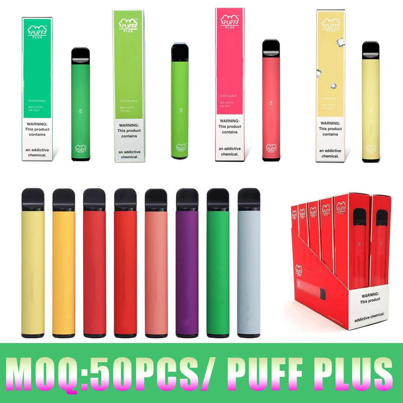 Плюс одноразовые устройства ручки Vape 3.2 мл PODS 550 мАч Батареи Батареи Starter Kits Ecigs 35 Цветов Паранты Парауса с упаковочной коробкой Пустой пользовательский
