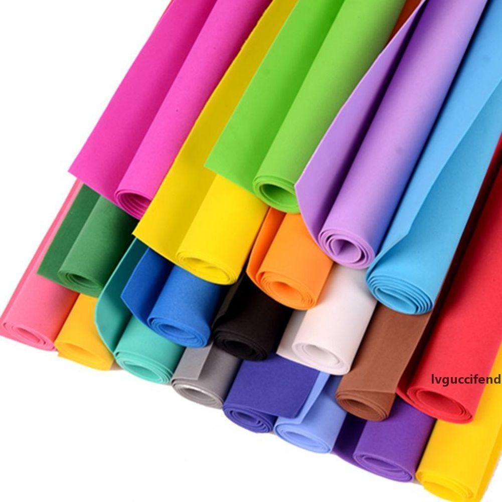 50 * 50 cm 1 mm Espesor EVA Papeles de espuma Multicolor Eva Esponja Espuma Papel Doble Scrapbooking Papel Craft Punch Kids DIY Regalo Decoración Clase de arte
