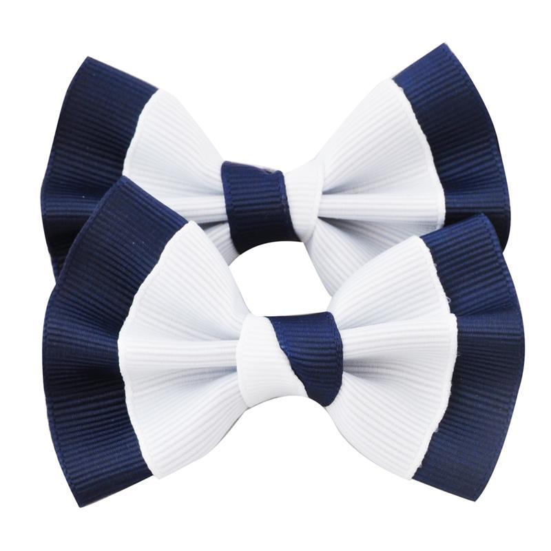1 PC 3 pouces Barrettes Grosgrain Ribbon Arc Clip pour accessoires de cheveux d'école Enfants Bowknot Hairgrip Headwear Coupes à cheveux