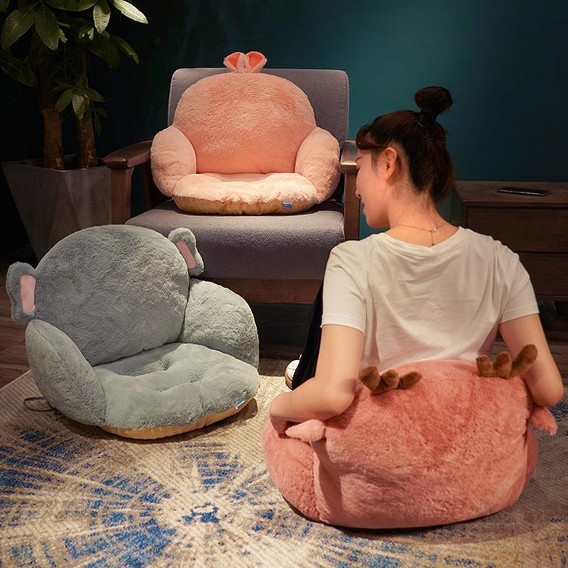Удобное сиденье диван подушка поясничных татами задний серый стул розовая подушка длинная нога спальня поддержки офисный плюшевый Eiovl
