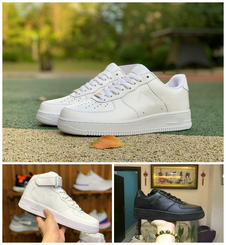 2021 قوى تصميم الرجال المنخفض واحد الأزياء والأحذية جميع الأبيض الأسود براون رخيصة النساء الهواء عالية سكيت أحذية الكلاسيكية af يطير الرياضة رياضية