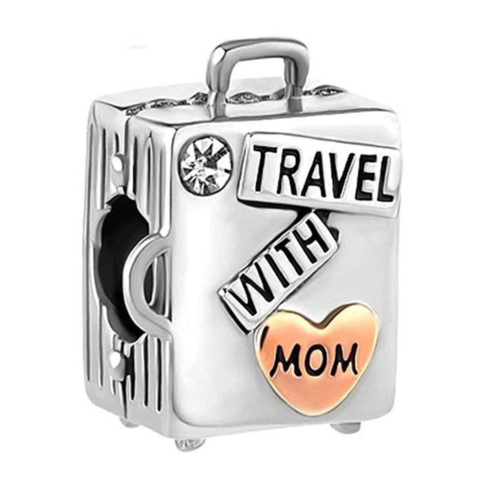 Западная мода и творческий оптом S925 стерлингового серебра S925 DIY шарм бисером украшенные аксессуары любят матери чемодан большая дыра