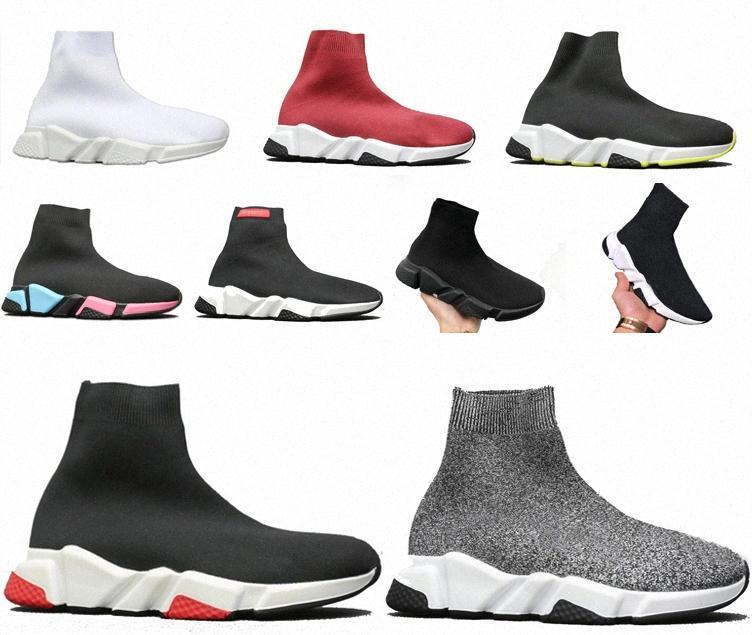 2020 Tasarımcı Çorap Spor Hızı 2.0 Eğitmenler Eğitmen Lüks Kadın Erkek Koşucular Ayakkabı Trainer Sneakers Çorap Balanciaga Çizmeler Platformu B 15uc #