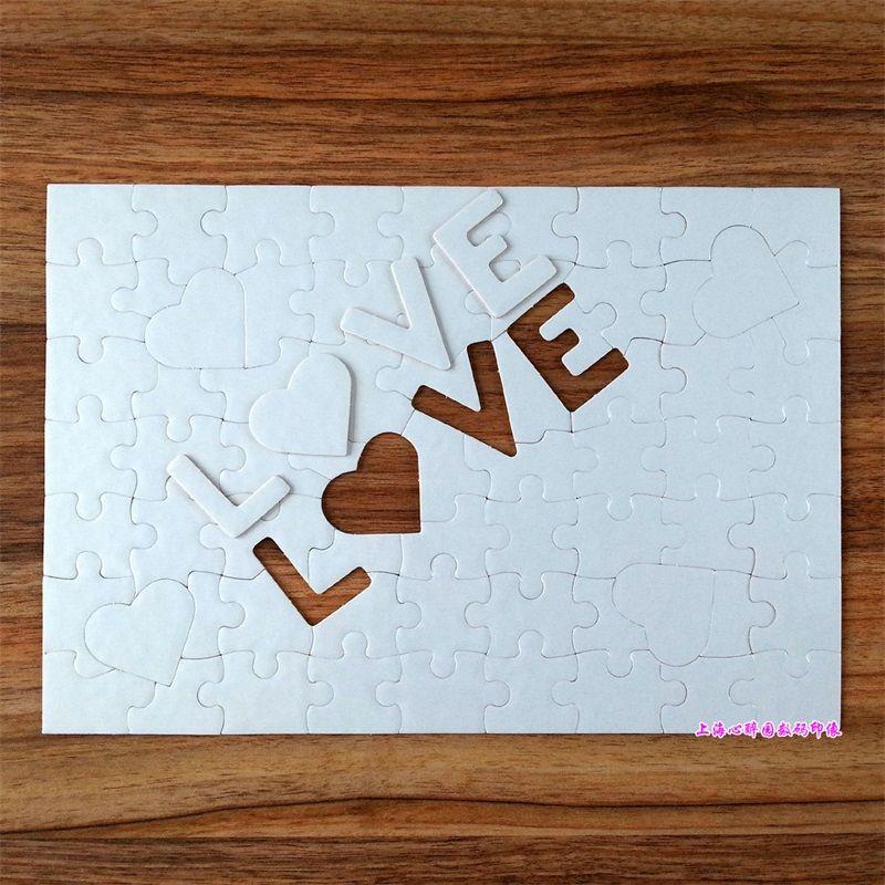 Sublimação Festa em branco Favor Jigsaw Puzzle A4 Luz Pérola Luz Branco Cópia Papelão Coração Empréstimo Crianças Adult Benefit Intelligence 2 4xj M2