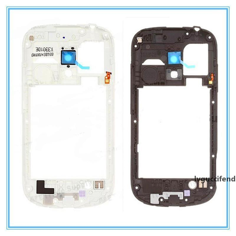 Blanco Negro Negro New Middle Menic Biszel Housing para Samsung Galaxy S3 Mini I8190 Nueva Calidad Nuevo Envío Gratis Completo Venta Retail
