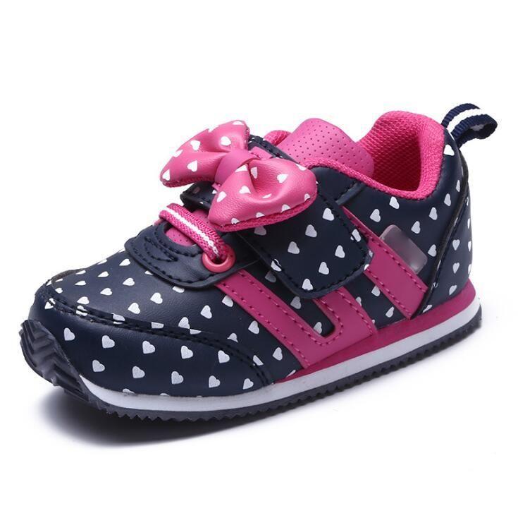 Bambini Ragazzi Scarpe sportive per bambini Scarpe da bambina Designer Girls Scarpe Casual antiscivolo Abbigliamento caldo in rete traspirante Mish 21-25