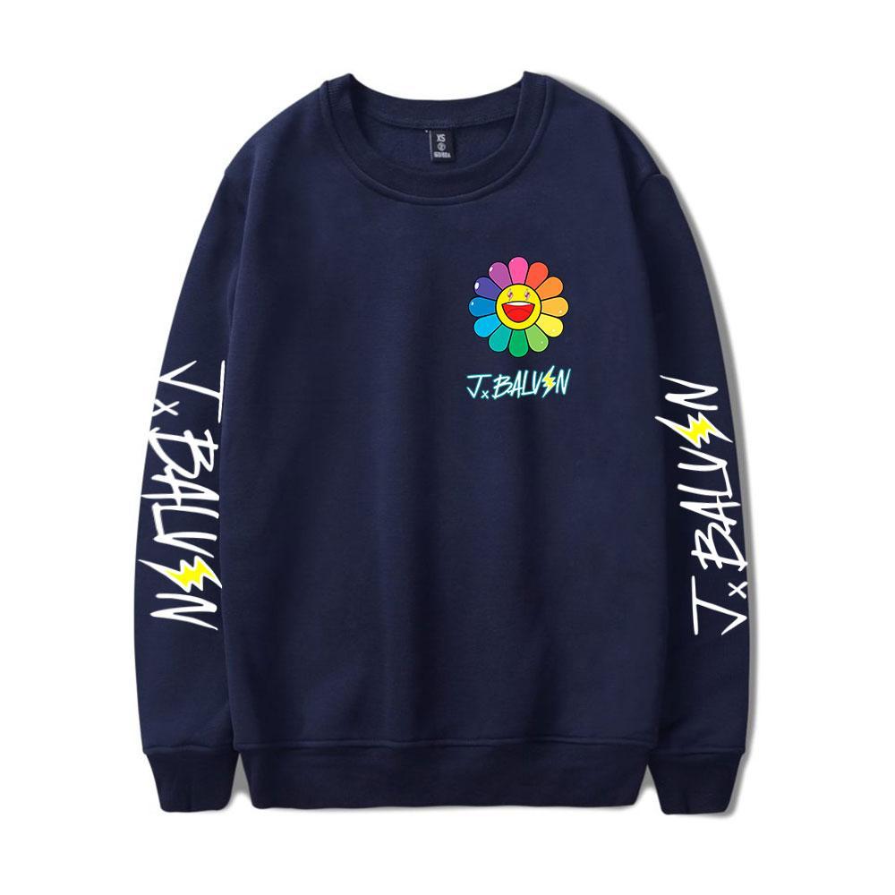 J Balvin Sweatshirt Oansatz Unisex Trainingsanzug Frauen / Männer Langarm Lässige Sweatshirts 2020 Neue Albumfarben Sun Blumen Kleidung C1117