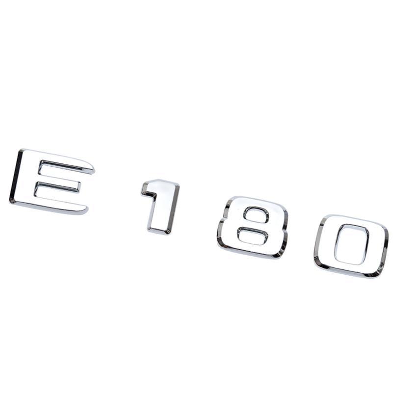 Per la classe E180 E200 E230 E260 E320 E350 Numero di cromo Lettere Trunk posteriore Emblem Badge Sticker