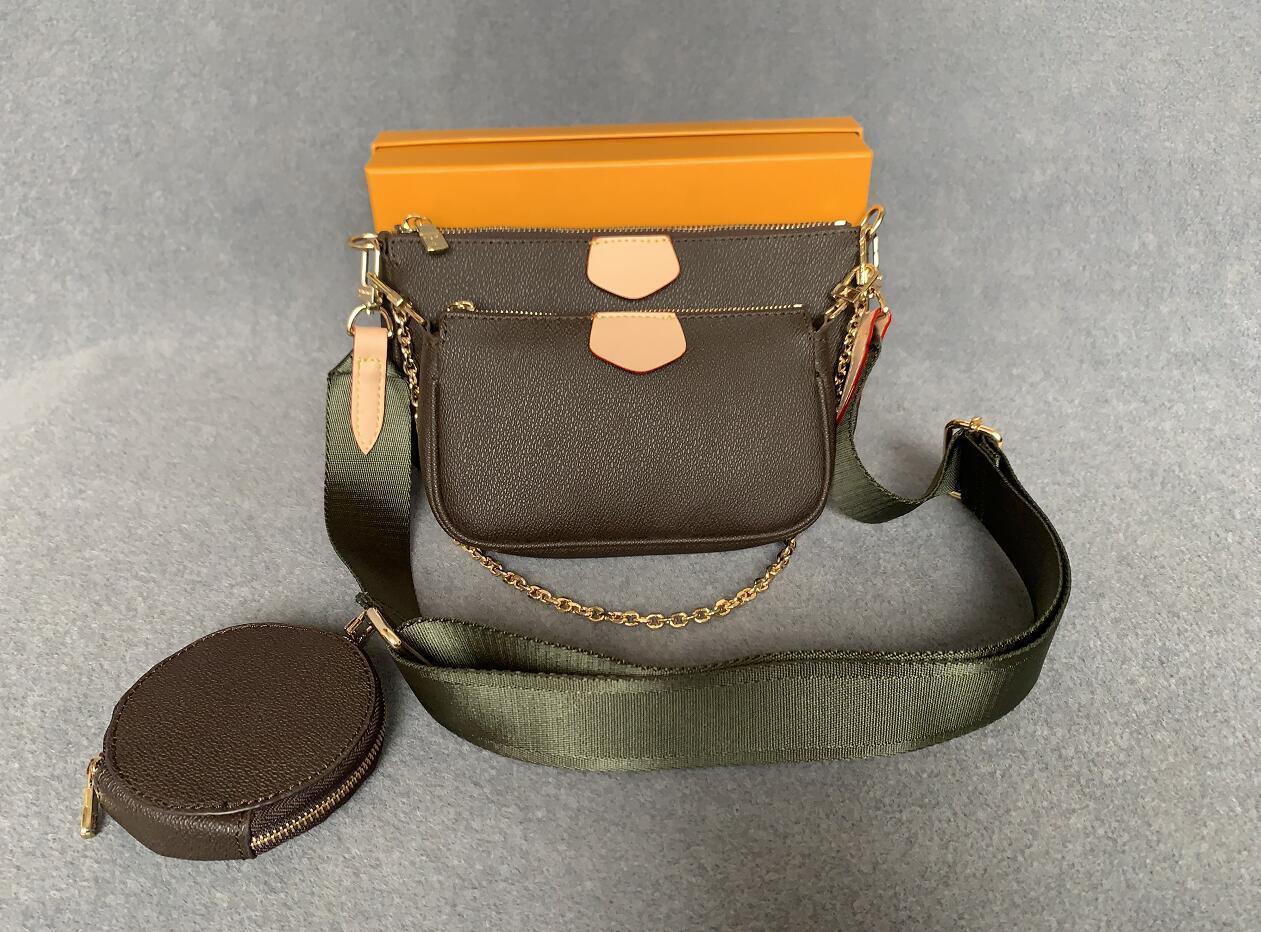 2021new kadınlar favori hakiki deri moda çanta birçok accessoires cüzdan mini 3 adet messenger çanta omuz çantaları