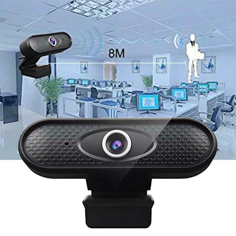 1080P Веб-камера Высокое разрешение Компьютерная периферия Пластик, встроенный в микрофон