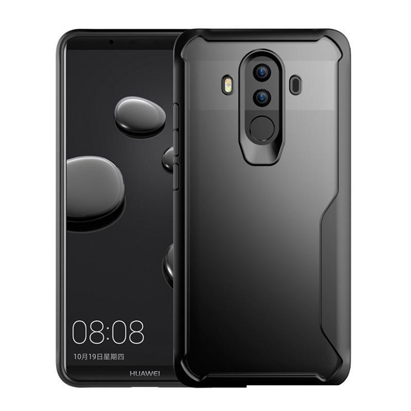 Caja de teléfono transparente para Huawei Mate 10 PRO TPU MATTE Frame PC Atrás Funda Atrás para Mate 10 Cáscara blindada protectora