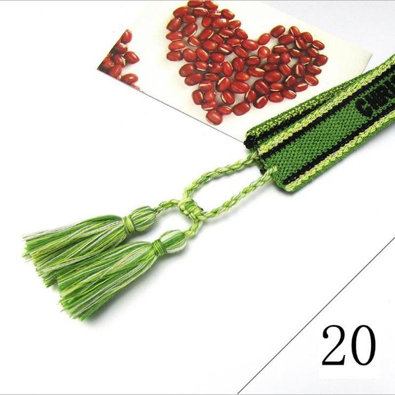 Muñequera tejidas pulseras de la amistad de la borla del bordado de la manera pulsera trenzada hecha a mano para las mujeres Rope regalos de la joyería de Navidad